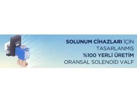 SOLUNUM CİHAZLARI İÇİN ORANSAL SOLENOİD VANA,VALF NORMALDE KAPALI, TORK SP1010