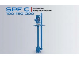 SPF C 100-150-200 DİKEY MİLLİ KANALİZASYON, ATIK SU, FOSEPTİK POMPALARI