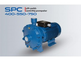 SPC 400-550-750 ÇİFT ÇARKLI SANTRİFÜJ POMPALAR